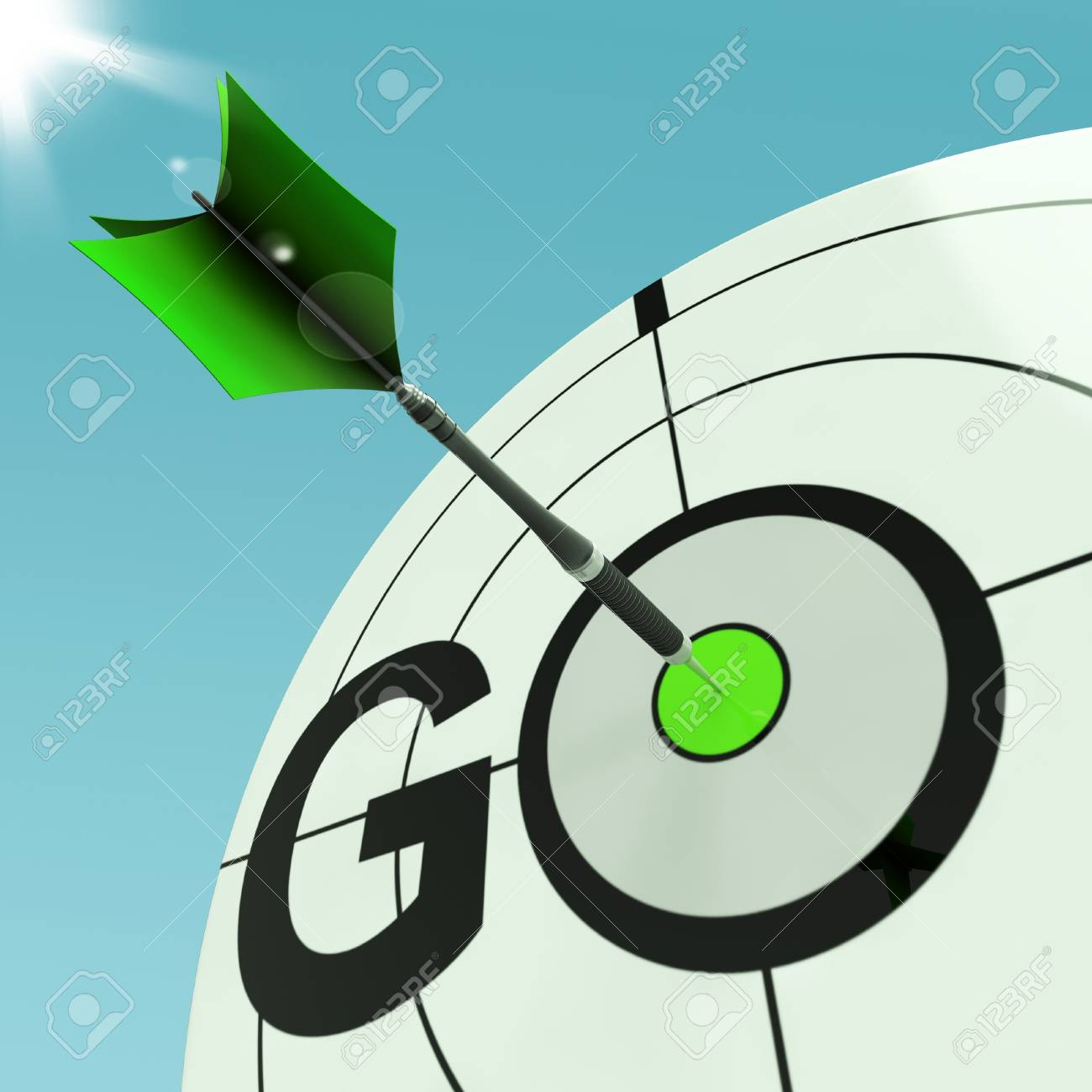 Go Meaning Approved Action To Run Immediately Stock Photo - 18039486