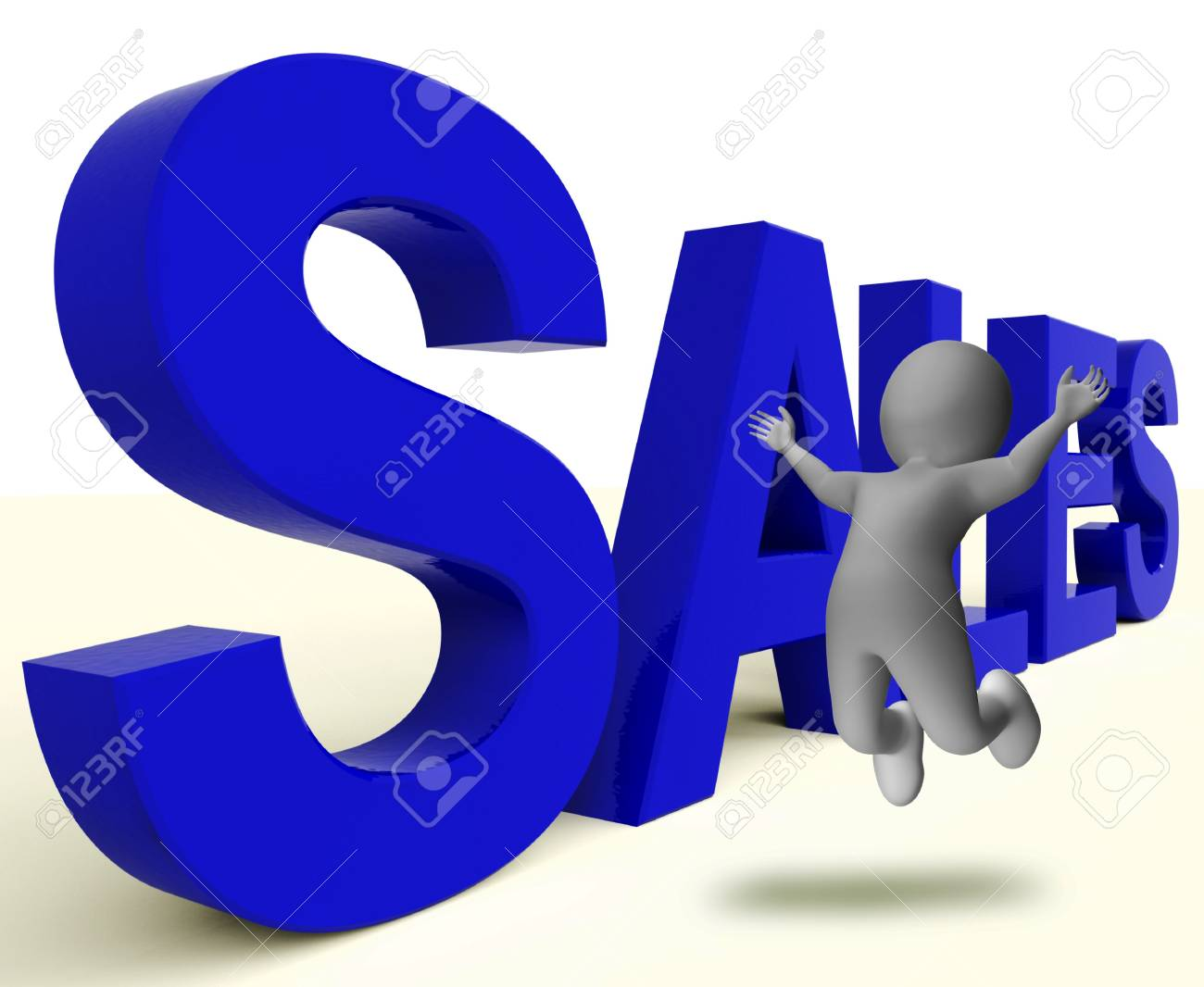 Sales Word Representing Business Selling Or Commerce Stock Photo - 18271109
