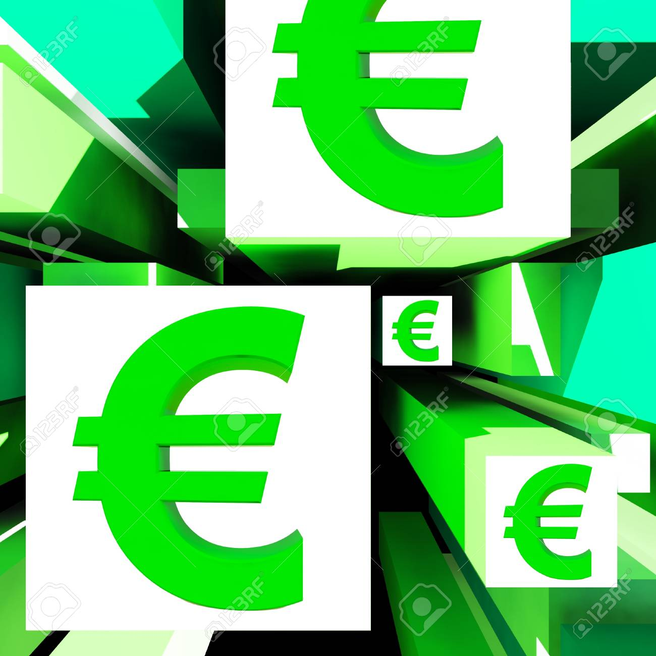 Euro Symbol On Cubes Shows European Profits And Investments Stock Photo - 18271103