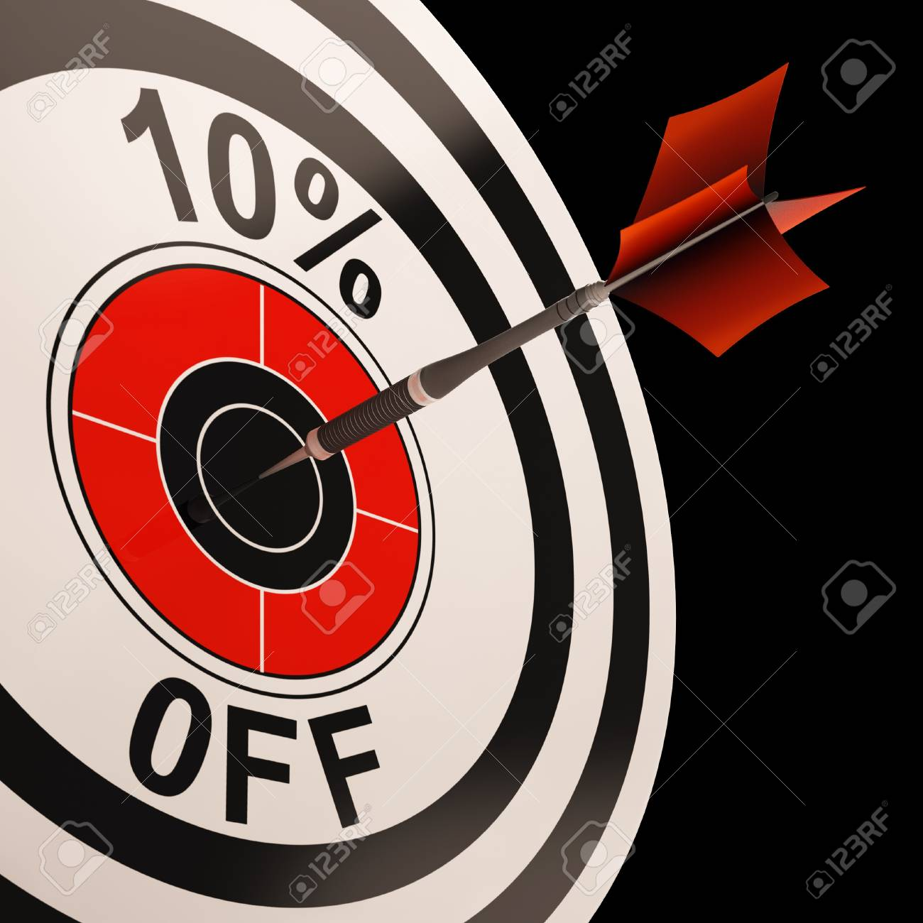 10 Percent Off Showing Percentage Reduction Special Offer Stock Photo - 18271140