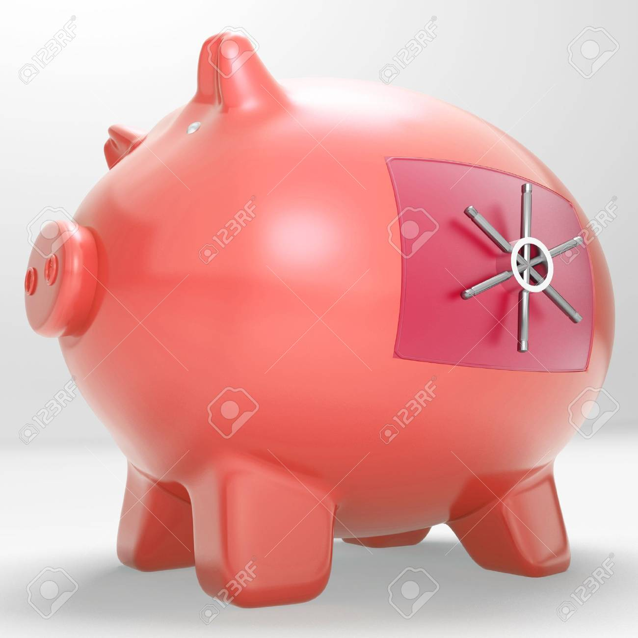 Safe Piggy Showing Restricted Permission Money Box Stock Photo - 18407570