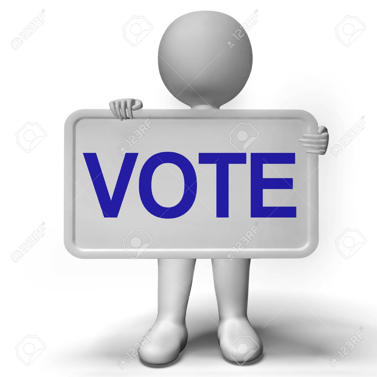 Vote Sign Showing Options Voting Or Choice Stock Photo - 18407106