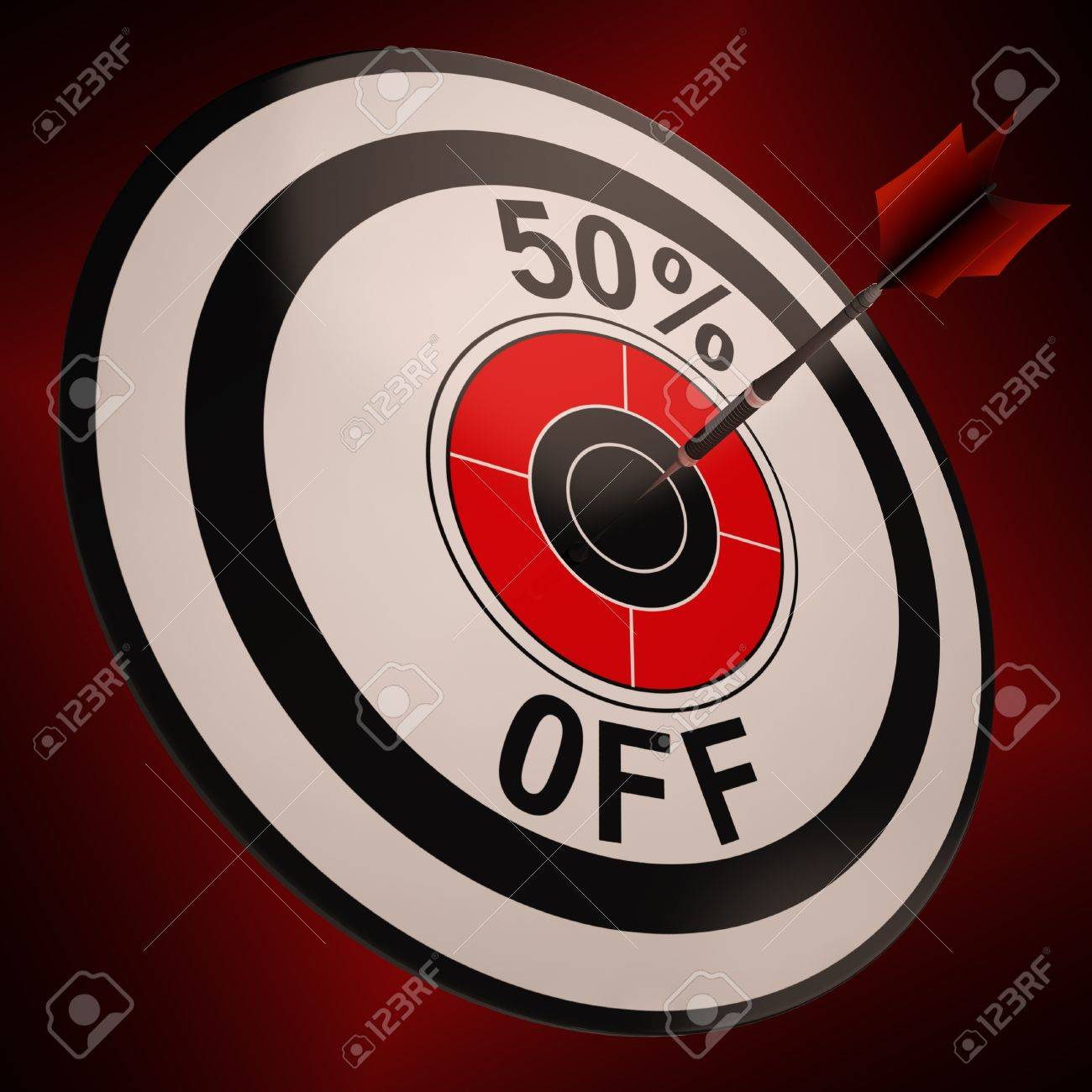 50 Percent Off Showing Markdown Purchasing Bargain Advertisement Stock Photo - 18407201