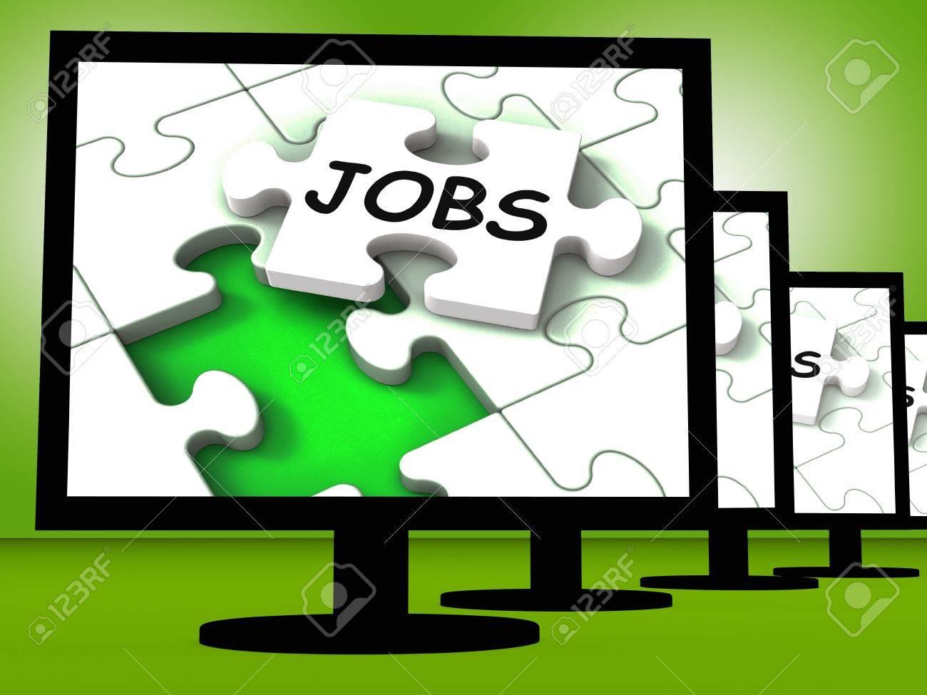 Offres D Emploi Sur Les Ecrans Affichage Travail A Domicile Ou A L