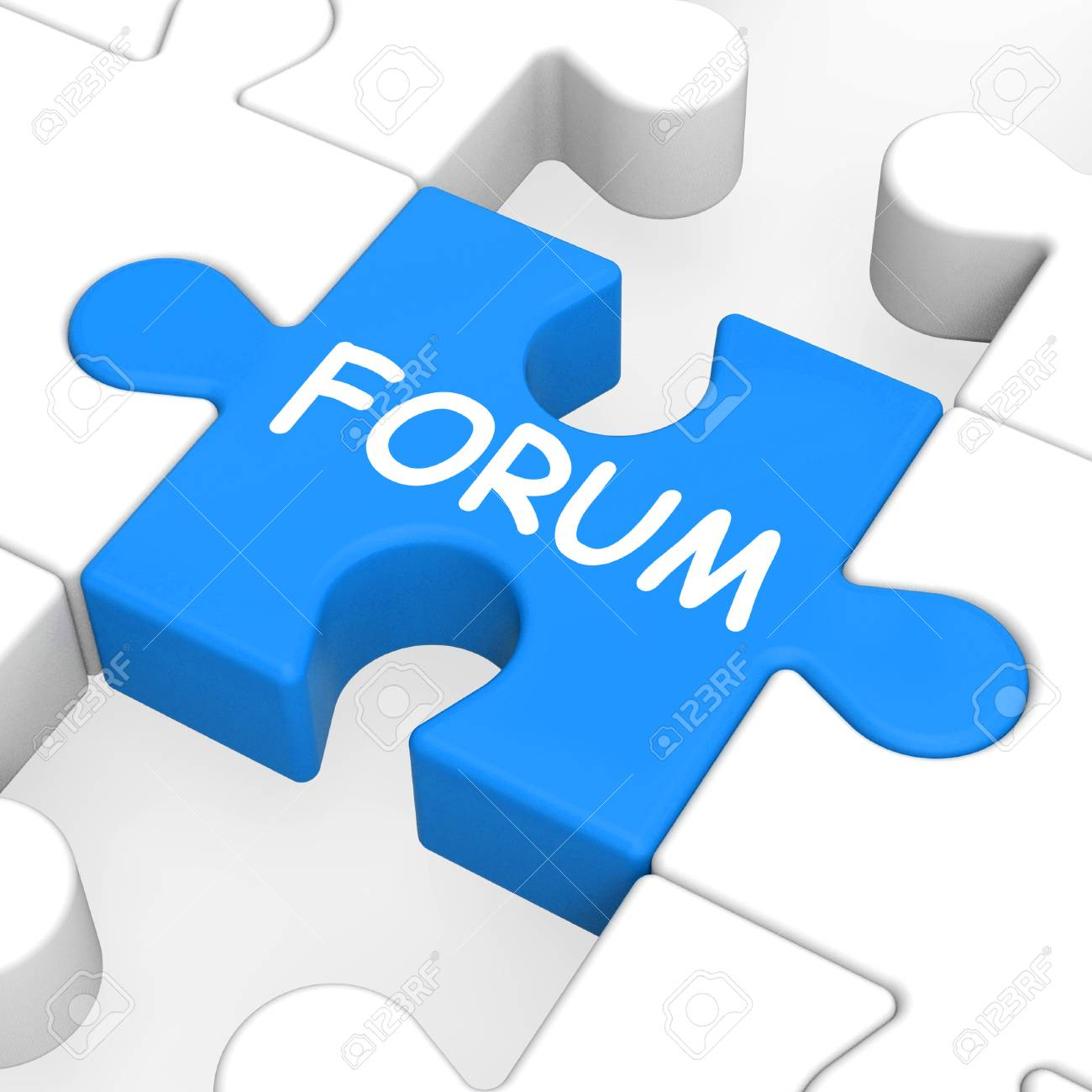 Forum Puzzle Showing Online Community Chat And Advice