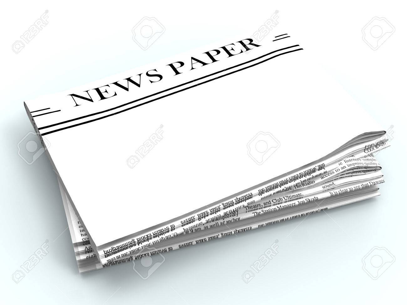 blank newspaper with copyspace showing news media headline space
