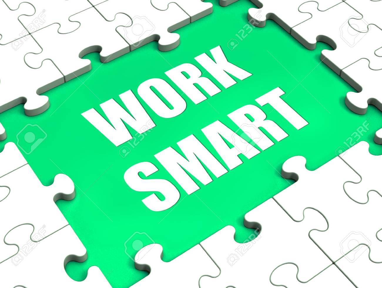 work smart puzzle showing intelligent clever worker stock photo stock photo work smart puzzle showing intelligent clever worker