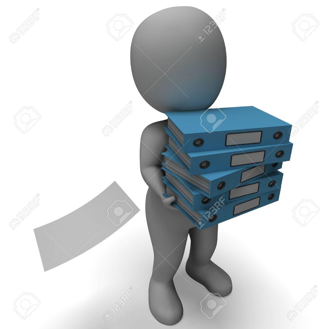 Organizing Clerk Carries Organized Files Paperwork And Binders ...