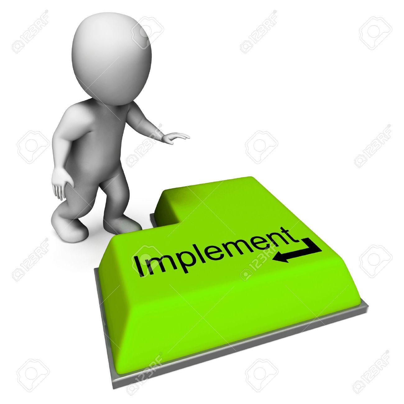 Implementar Botón Significado De Ejecución O Aplicación De La ...