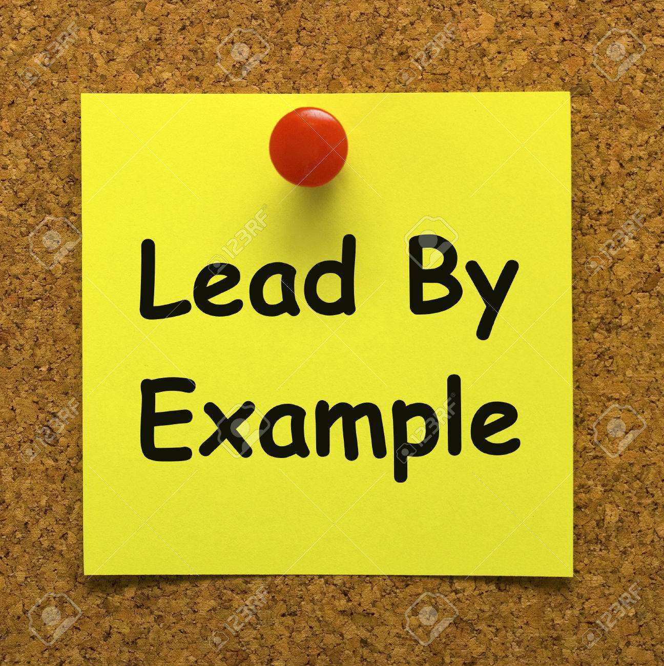 lead by example note meaning mentor and inspire stock photo, picture