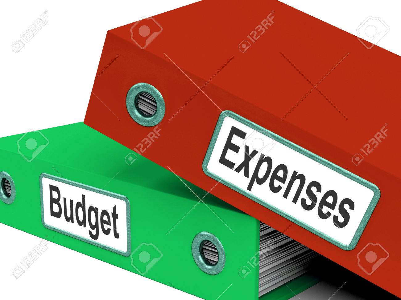 budget expenses folders meaning business finances and budgeting
