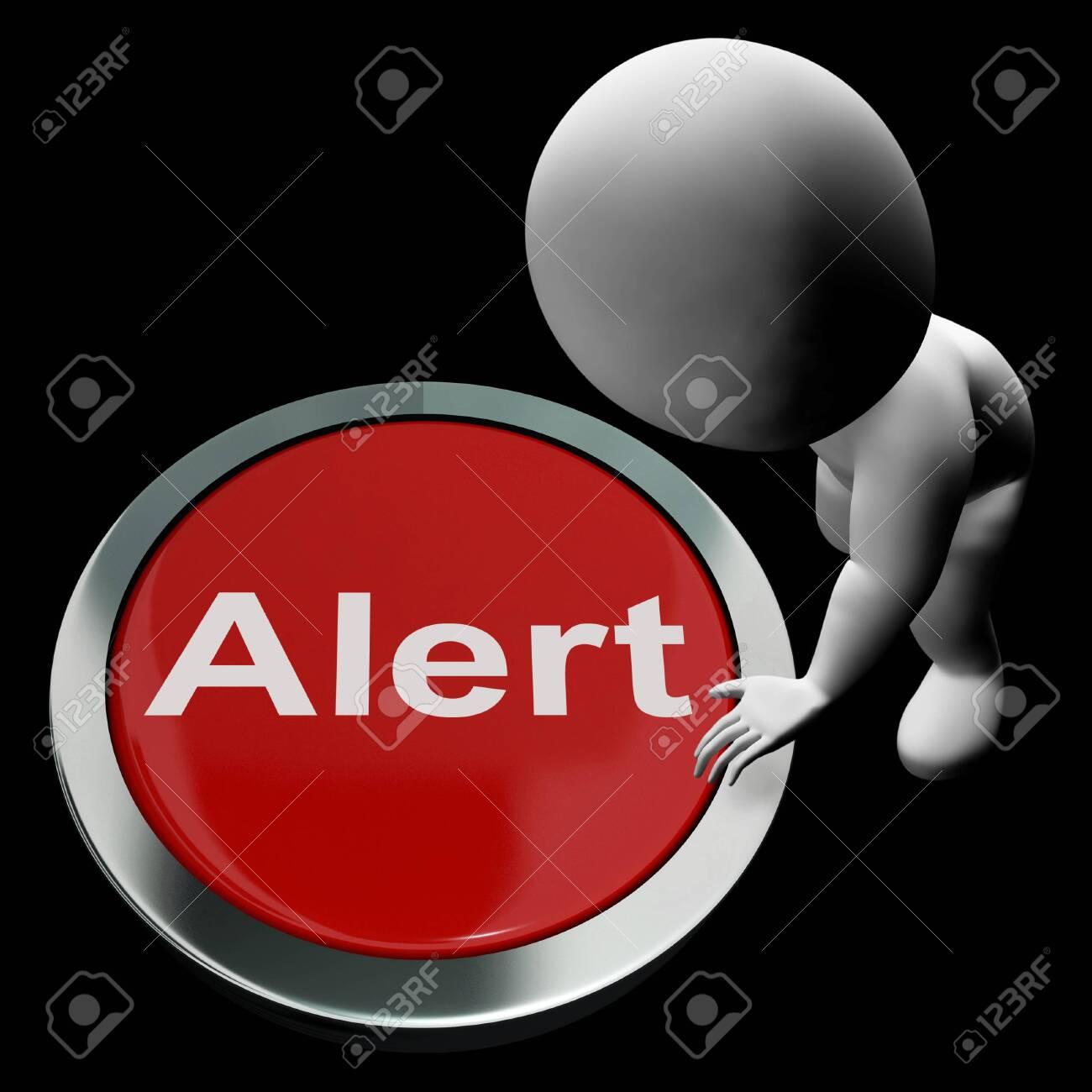 Alert Button Showing Warn Caution Or Raise Alarm Stock Photo - 26235135