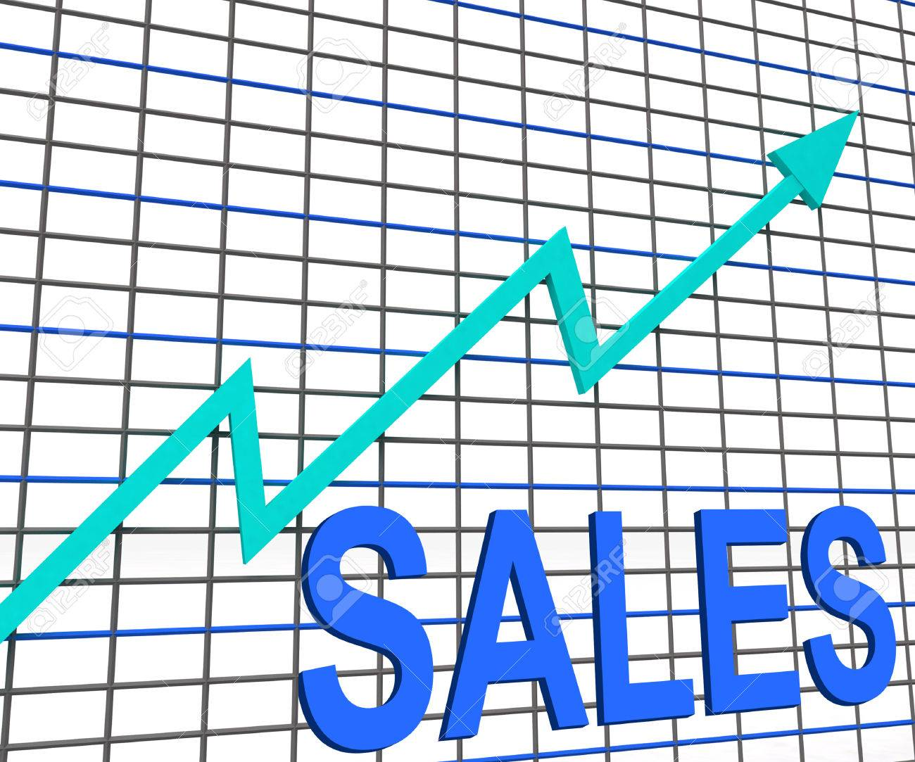sales chart graph showing increasing profits trade stock photo