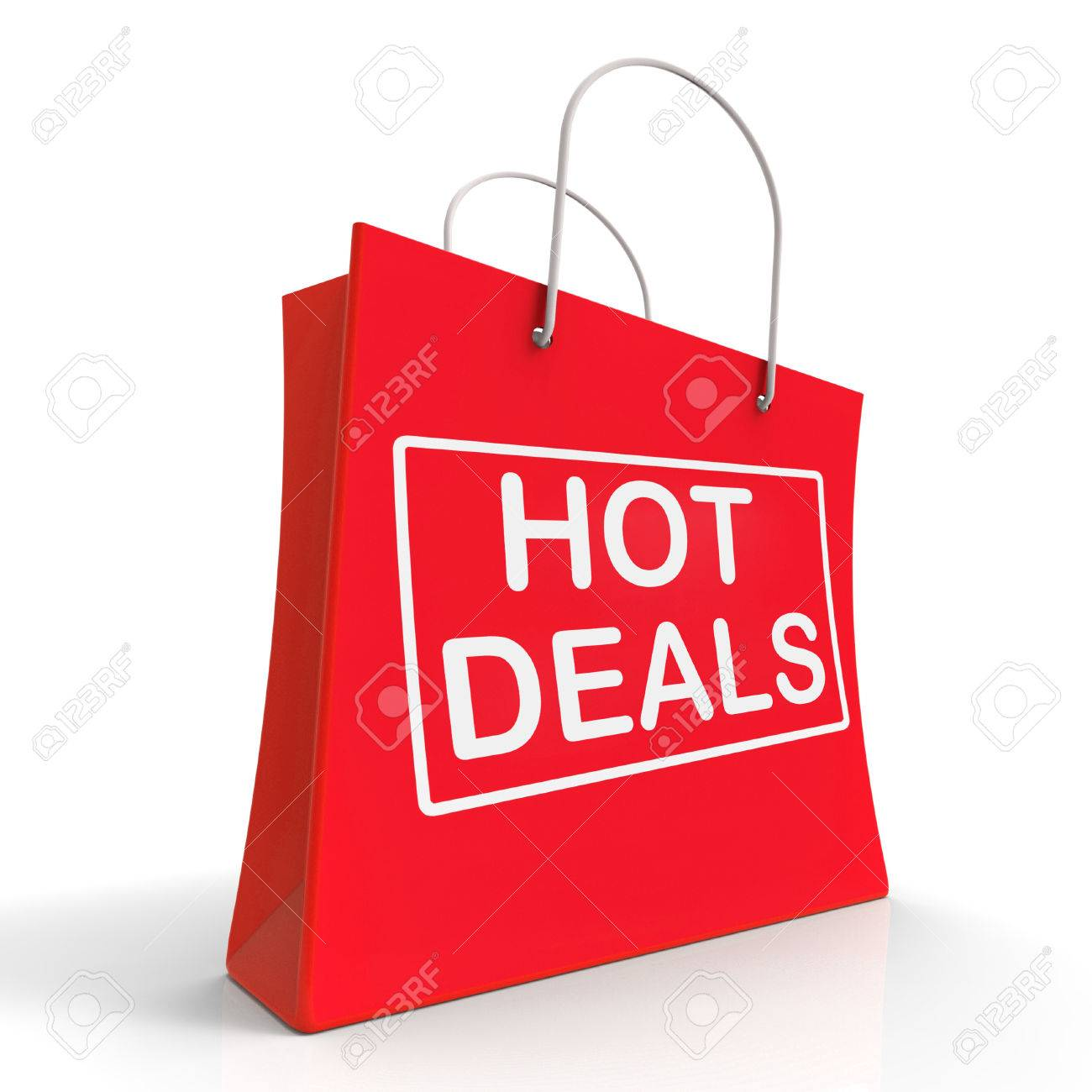 Hot Deals On Shopping Bags Showing Bargains Sale And Save Stock Photo Picture And Royalty Free Image Image 26416344