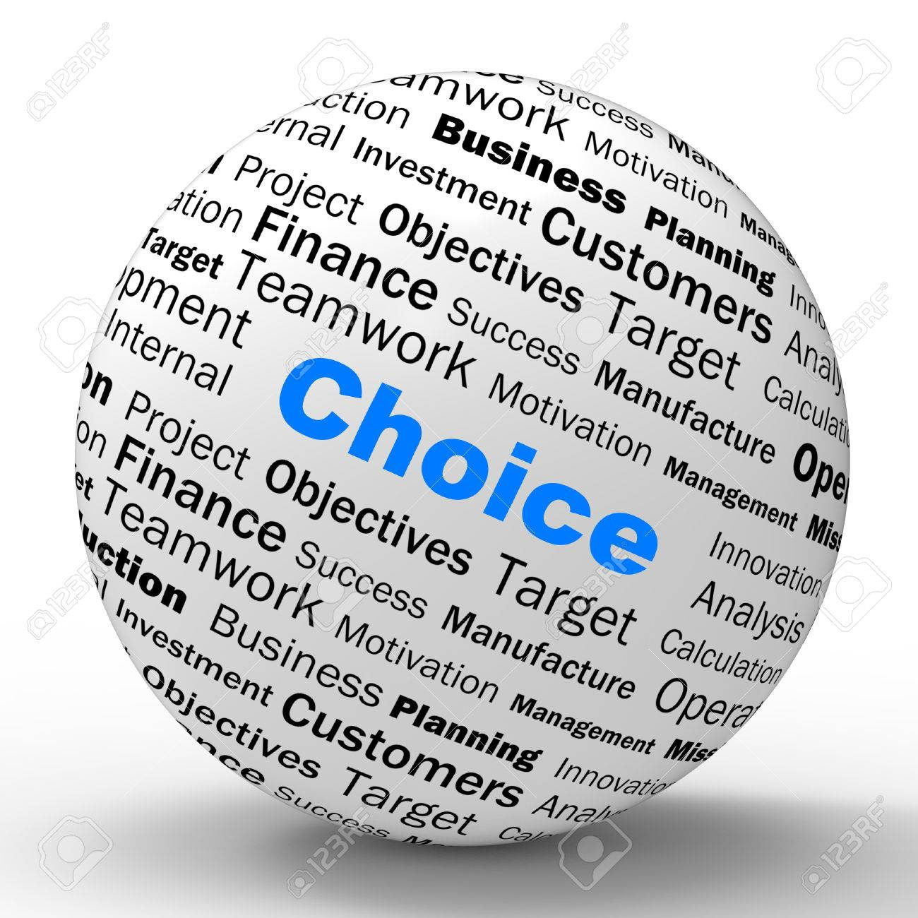 Choice Sphere Definition Showing Confusion Uncertainty Or Dilemma Stock  Photo   27899683