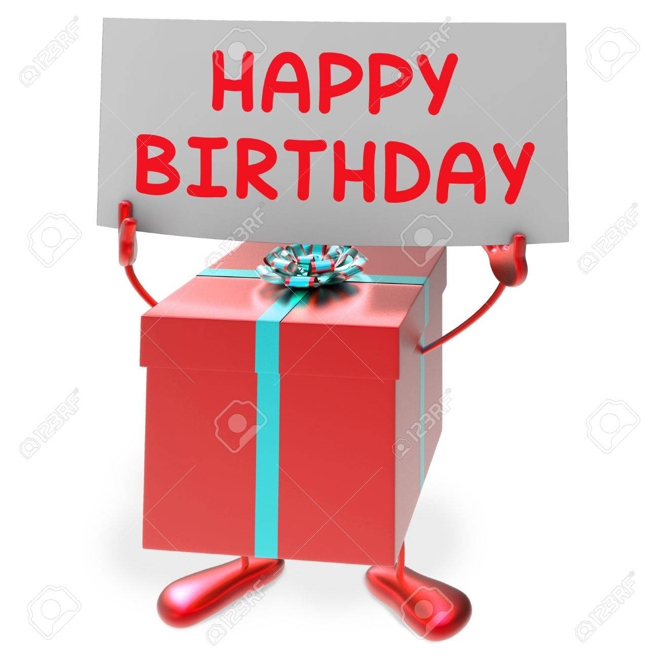 Happy Birthday Sign Meaning Presents And Gifts Stock Photo