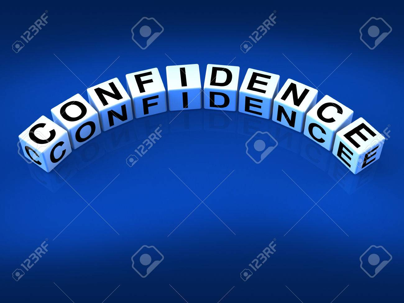 Confidence Dice Meaning Believe In Yourself And Certainty Stock