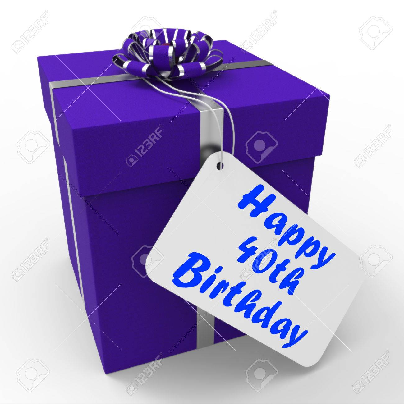 Happy 40th Birthday Gift Showing Age Forty Stock Photo
