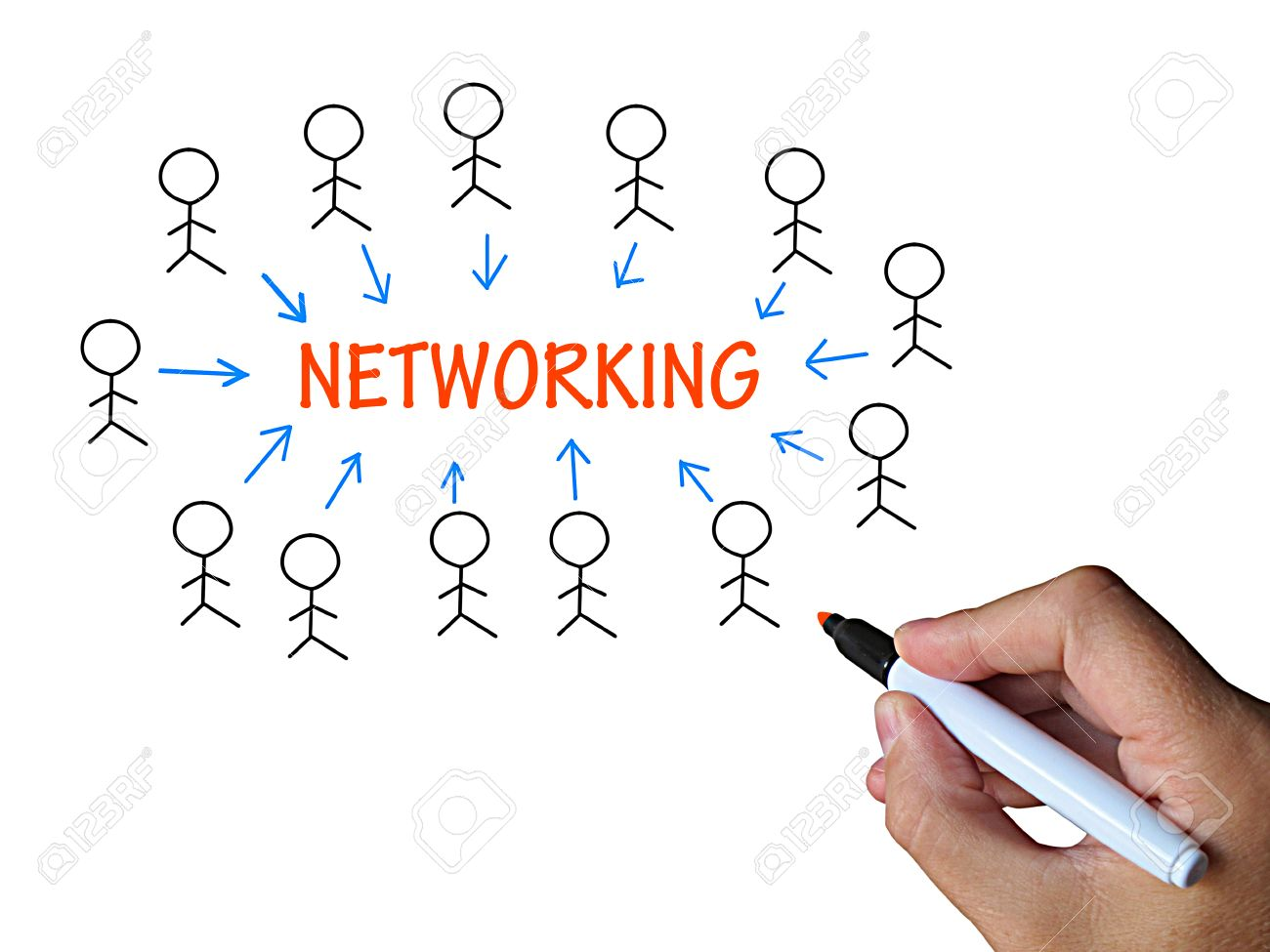 networking on whiteboard meaning business technology or online networking on whiteboard meaning business technology or online job interacting stock photo 27900004