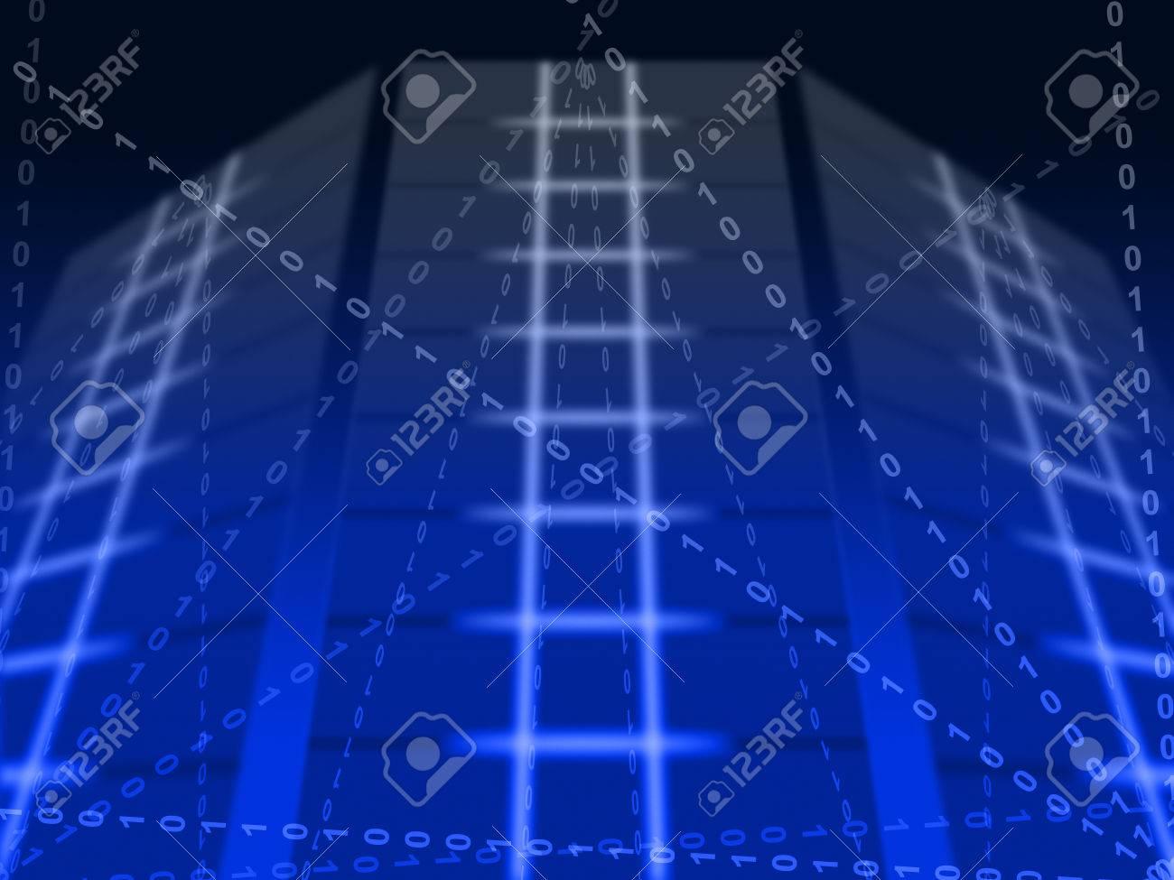 Circuito Significado : Azul binario circuito de fondo significado comunicación digital o