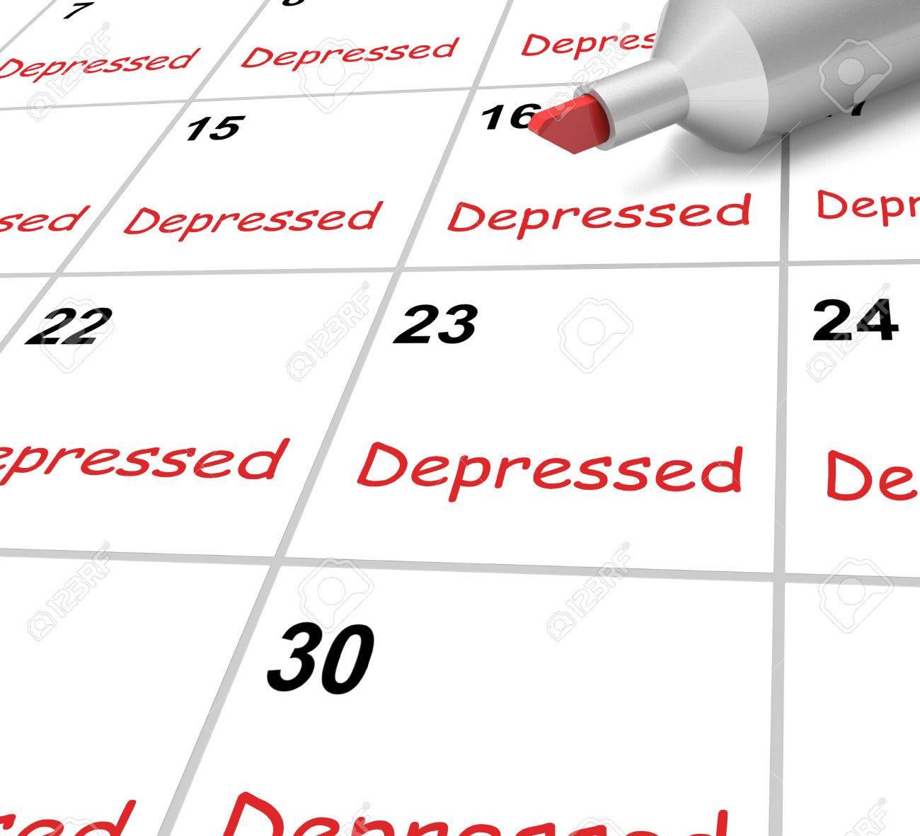 Calendario Significato.Calendario Depresso Significato Giu Malattia Scoraggiato O Mentale