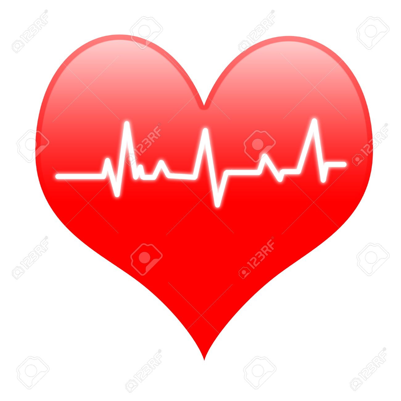 Electro On Heart Meaning Passionate Heartbeat Or Loving Beat