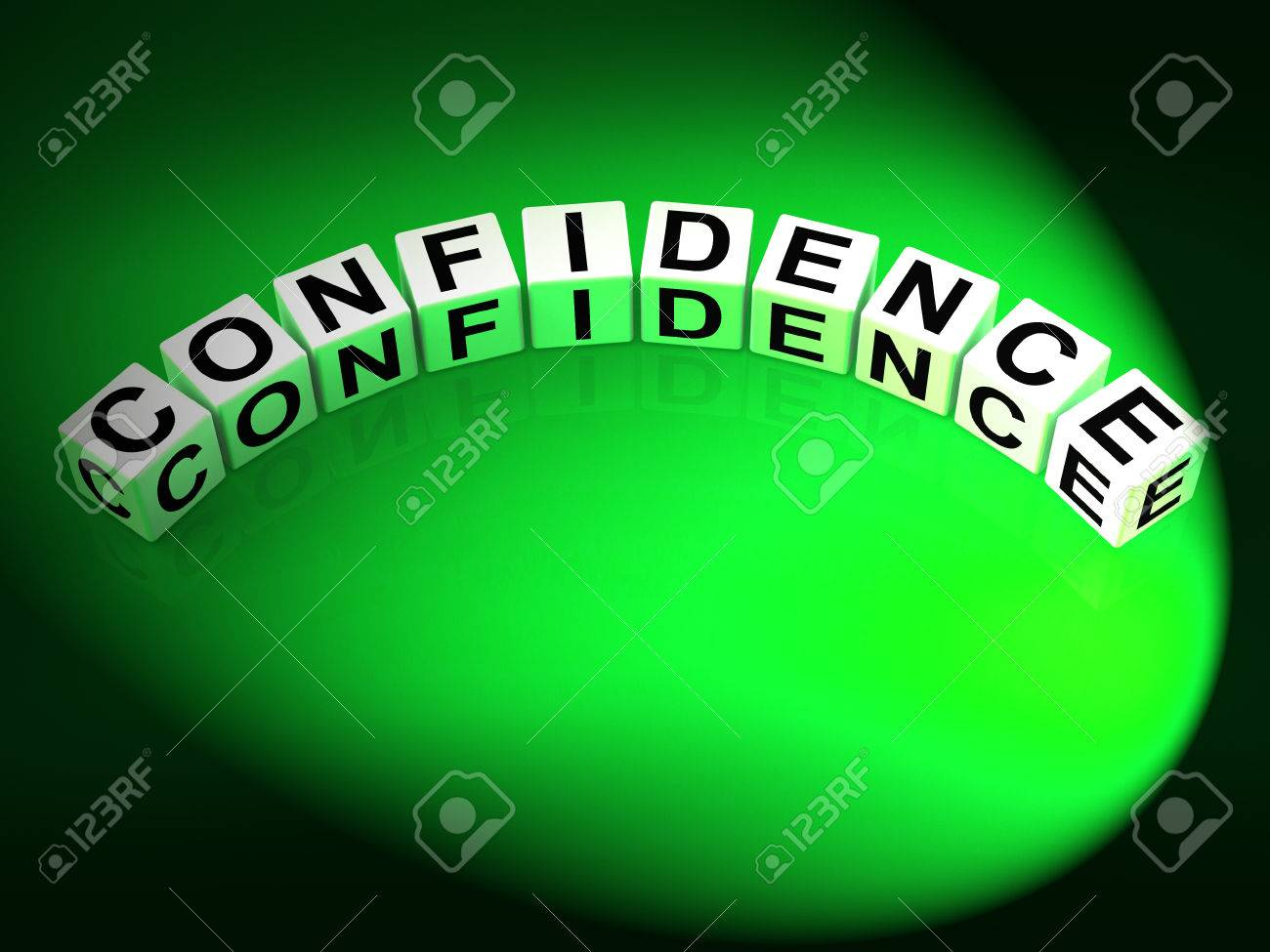 Confidence Letters Meaning Believe In Yourself And Certainty Stock