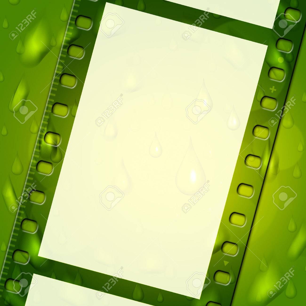 Filmstreifen Grün Bedeutung Text Raum Und Fotografie Lizenzfreie