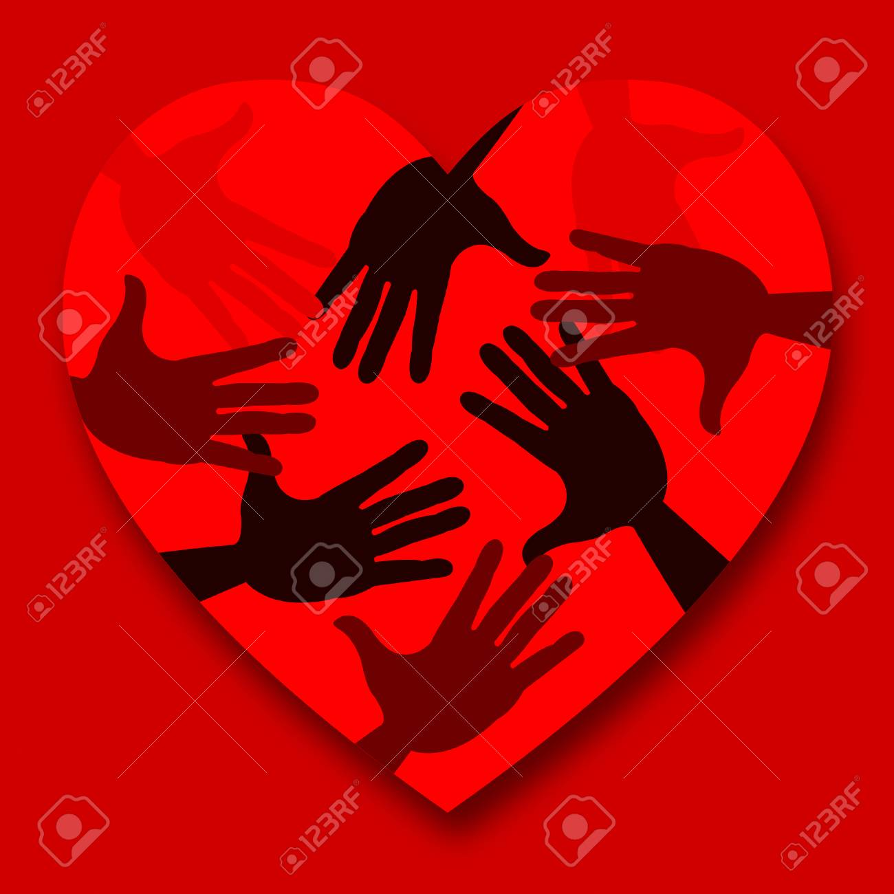 Heart Red Meaning Valentines Day And Lovers Stock Photo Picture And