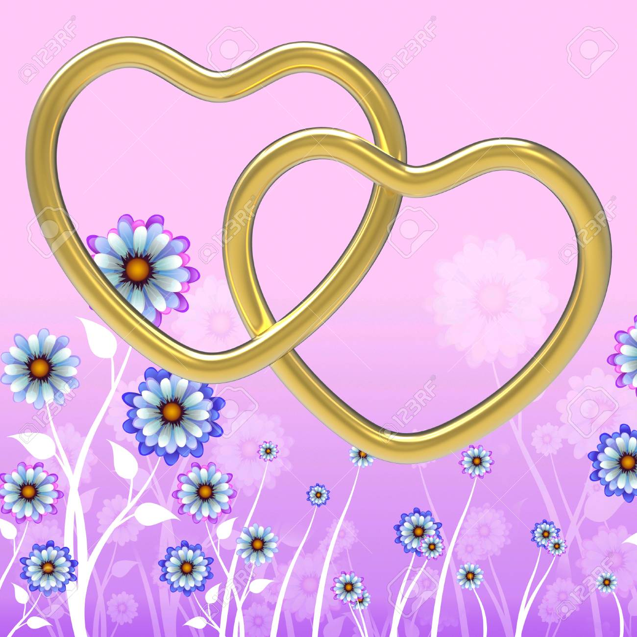 Wedding Rings Meaning Heart Shape And Jewelry Stock Photo, Picture ...
