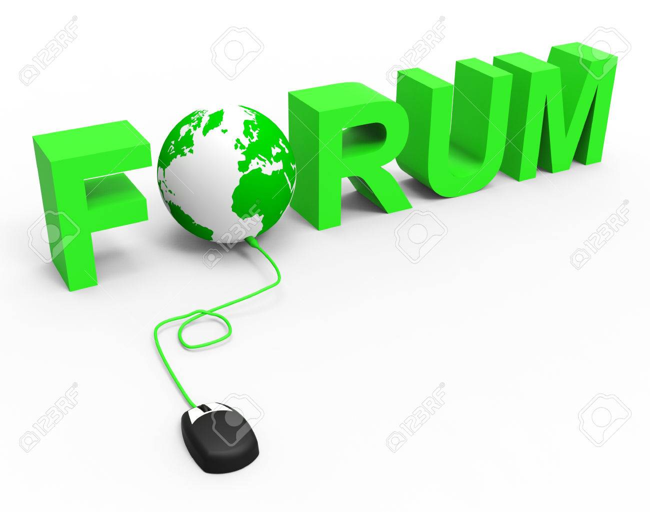 Internet Forum Meaning World Wide Web And Web Site Stock Photo ...