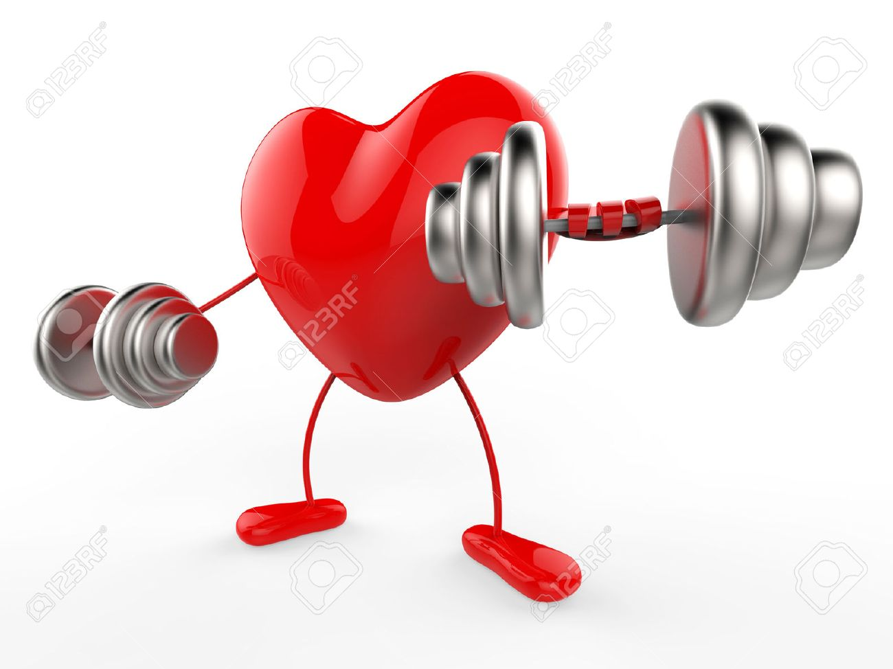 Weights Heart Meaning Valentines Day And Gym Stock Photo   29566633