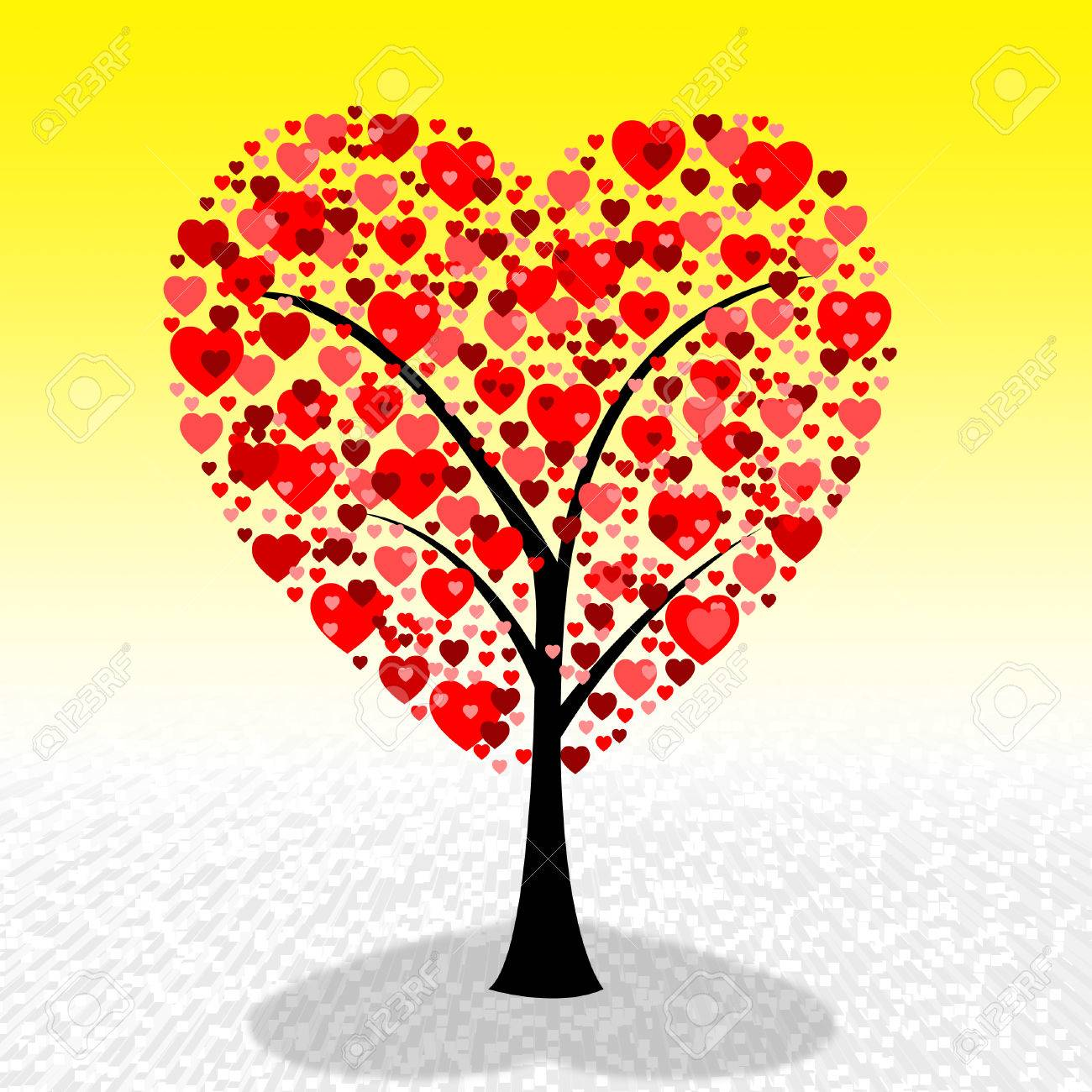 Hearts Tree Meaning Valentine S Day And Lovers Stock Photo Picture
