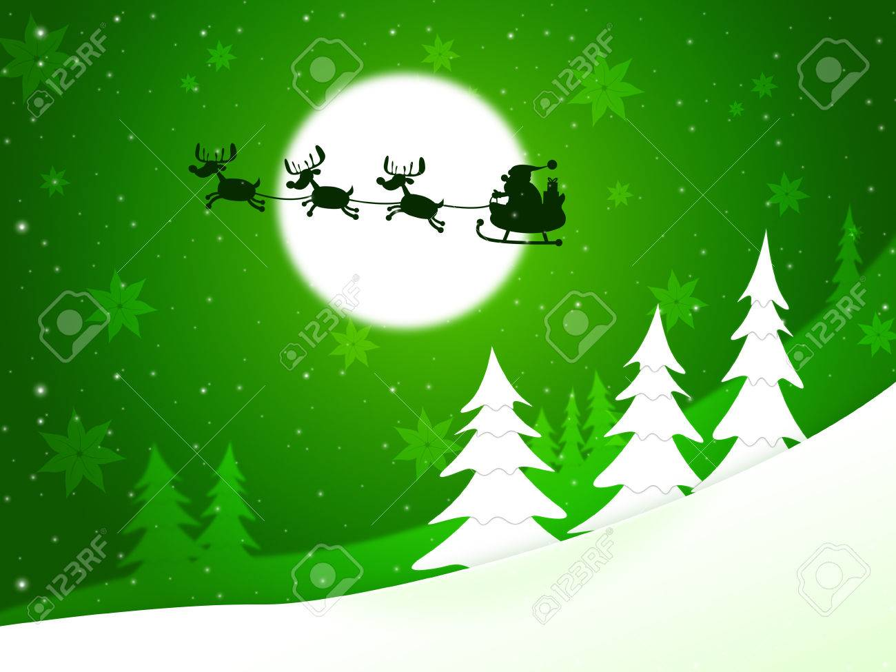Xmas Tree Meaning Father Christmas And X-Mas Stock Photo, Picture ...