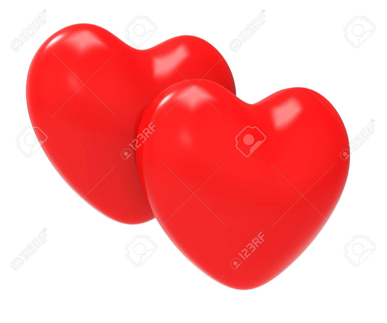 hearts love meaning valentines day and fondness stock photo, picture