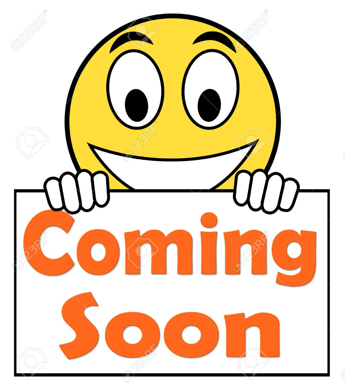 09de8cae344 Coming Soon On Sign Showing Arriving Products Or New Arrivals Stock Photo -  31410793