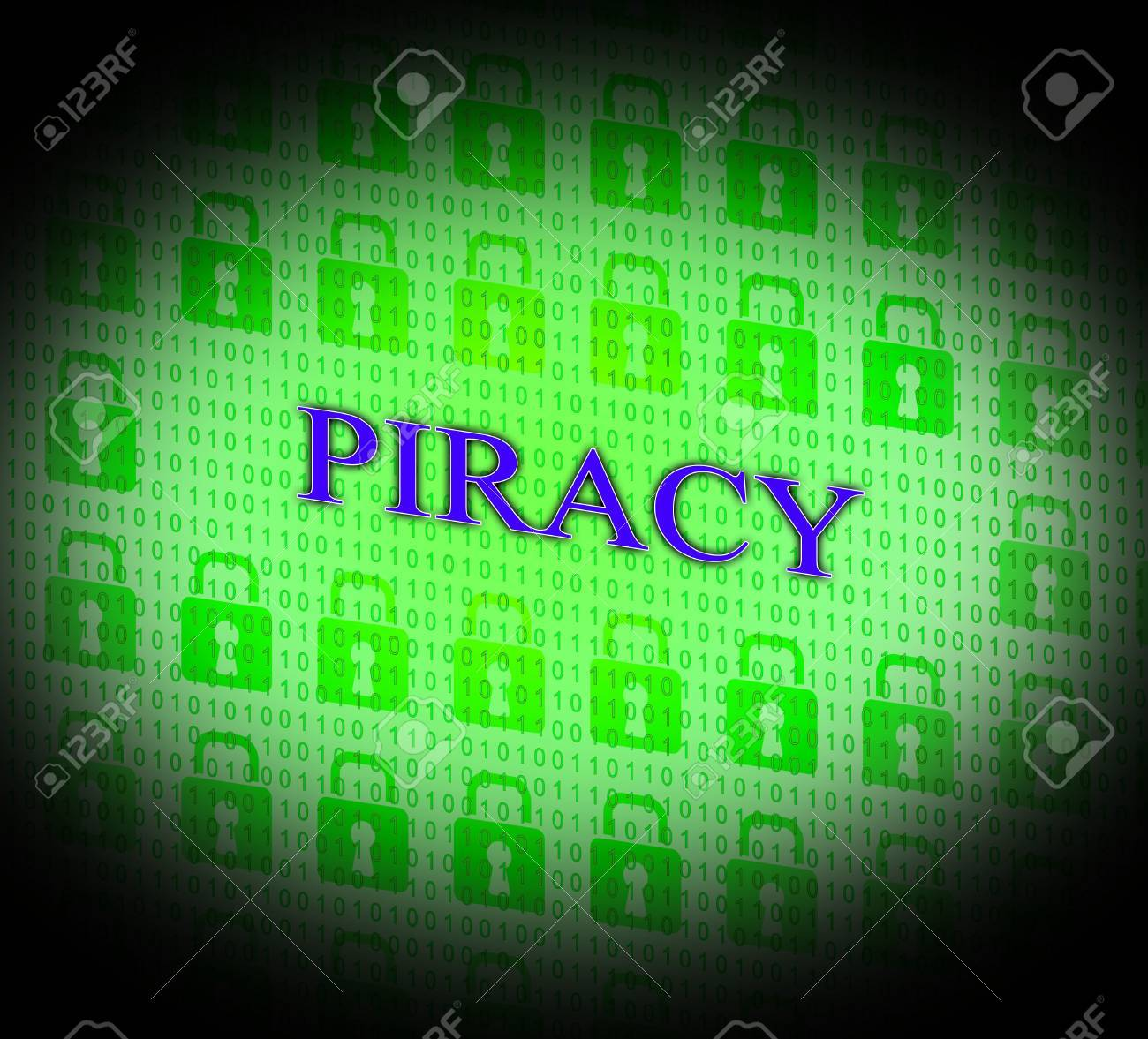 Copyright Piracy Meaning License Protected And Ownership Stock Photo