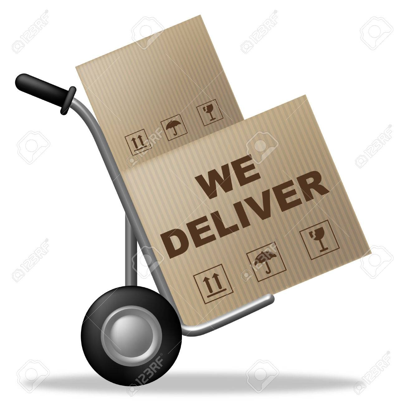 We deliver meaning shipping box and parcel stock photo picture and we deliver meaning shipping box and parcel stock photo 32810062 biocorpaavc Choice Image