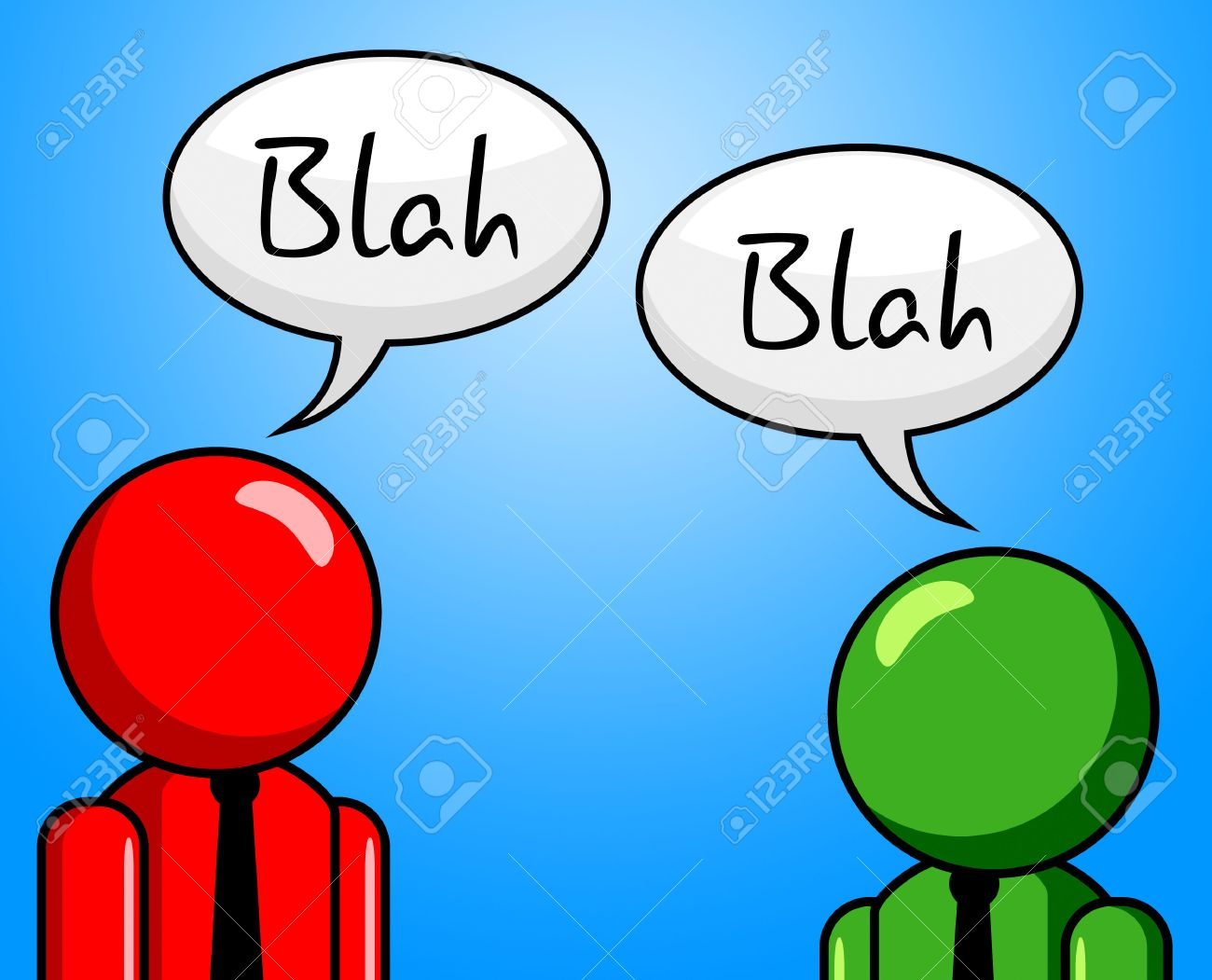 blah conversation meaning chinwag dialogue and gossip stock photo