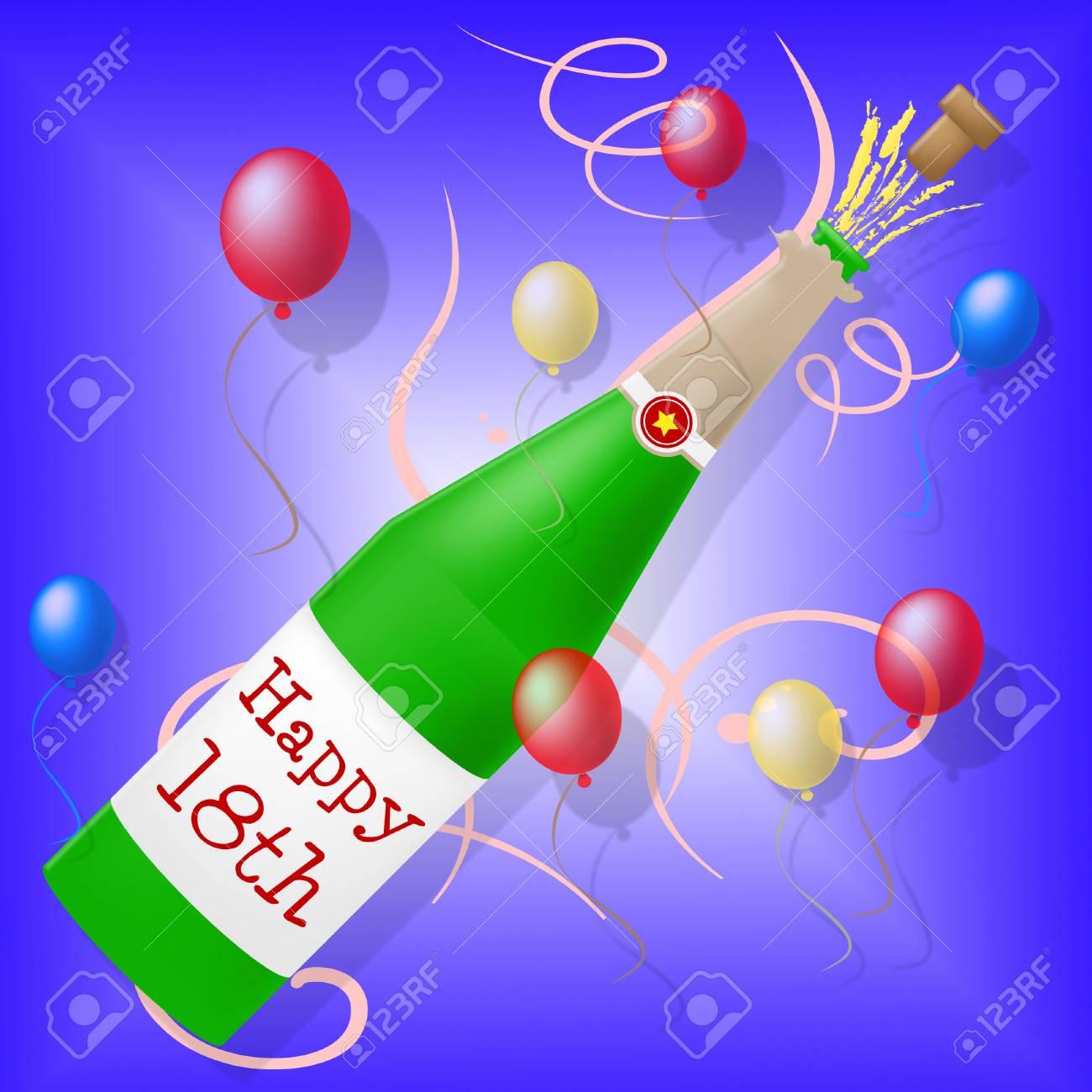 Alles Gute Zum Achtzehnten Geburtstag Vertretung Partei Feiern Und