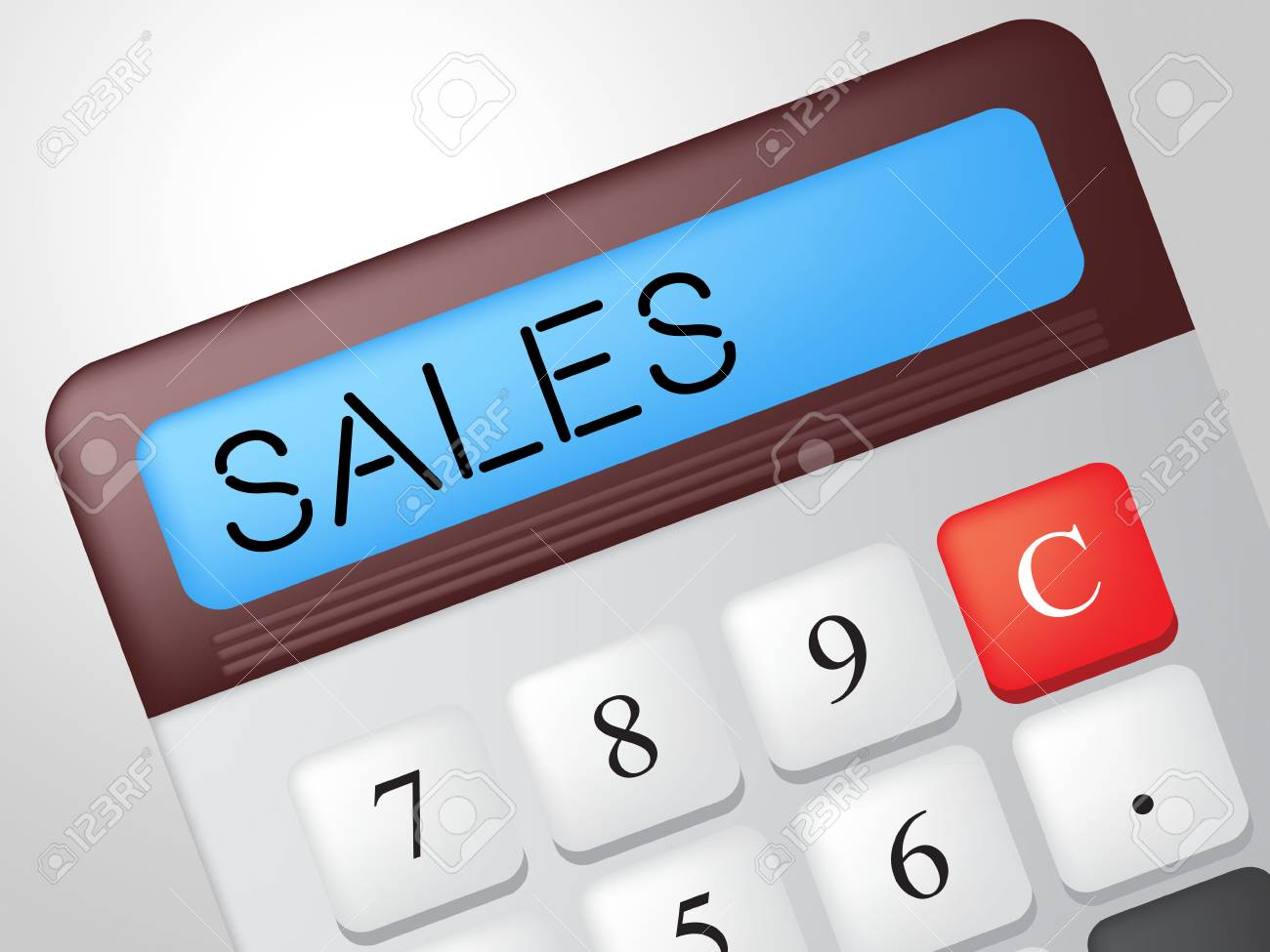 sales calculator representing commerce calculate and marketing stock