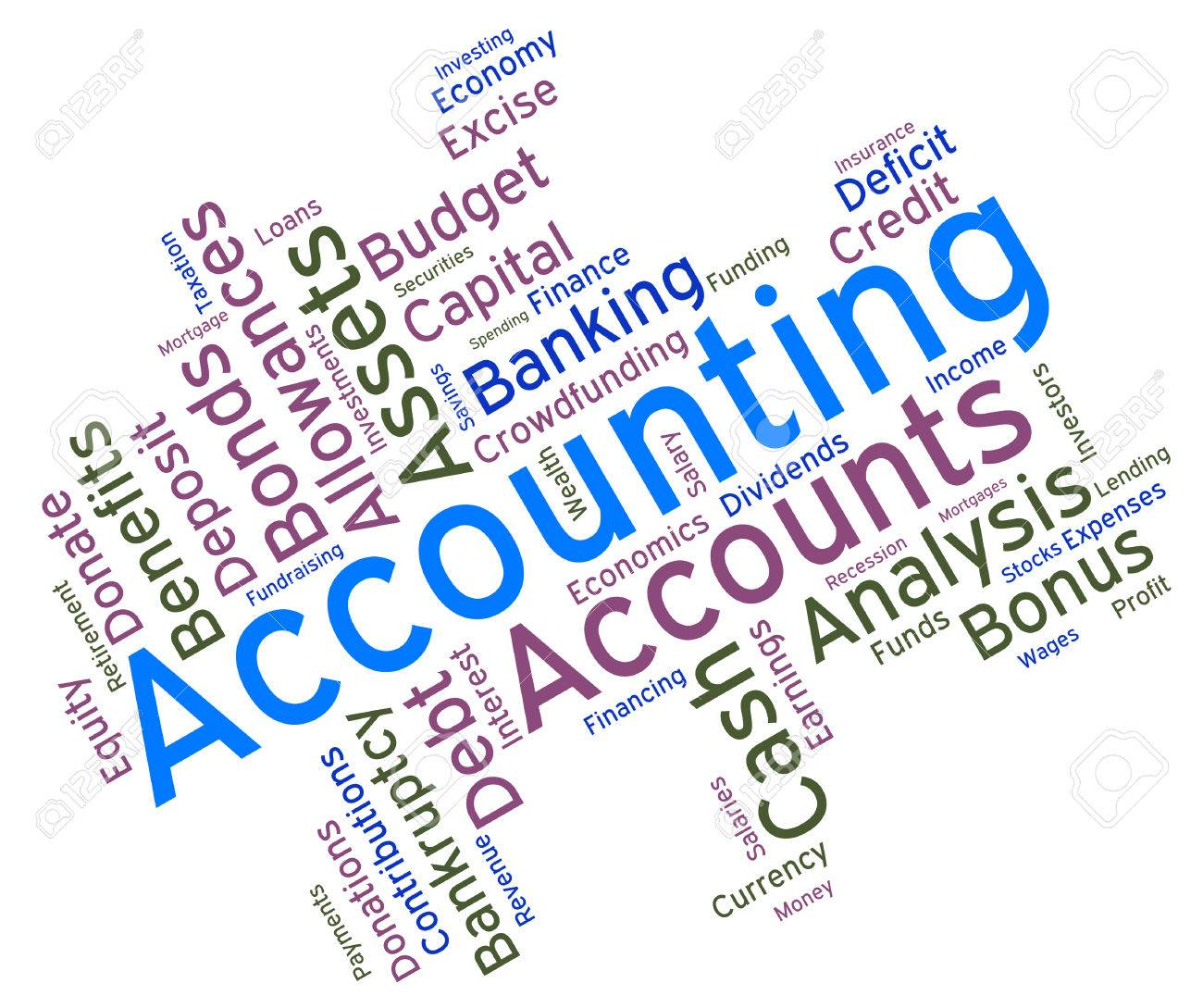 Accounting Words Wordcloud Stock Photo, Picture And Royalty Free ...