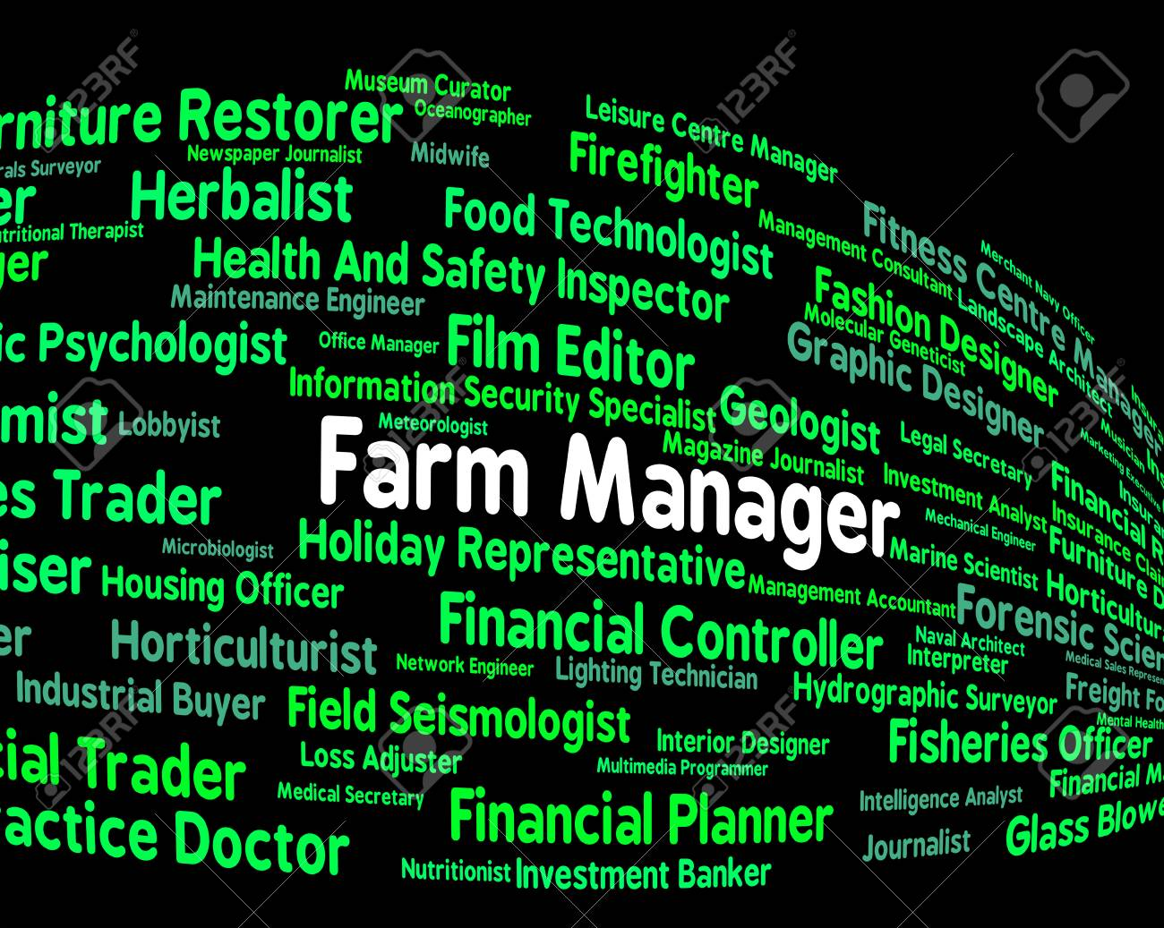 Farm Manager Indicating Hiring Agricultural And Employer Stock ...