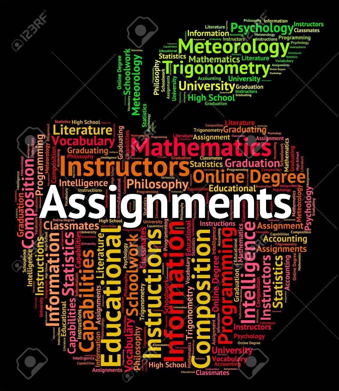 psychology homework assignments