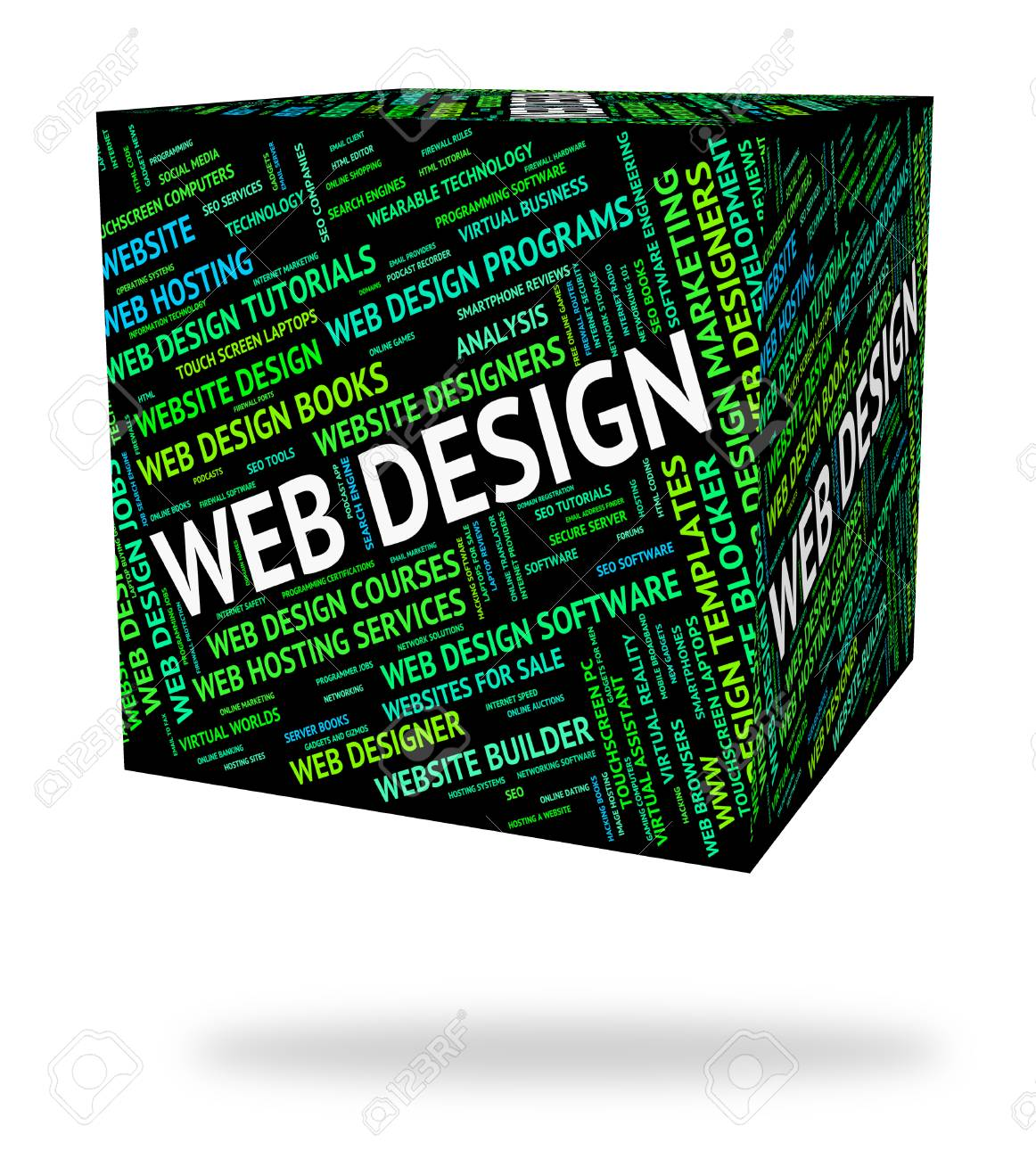 web design indicating text word and words stock photo picture and