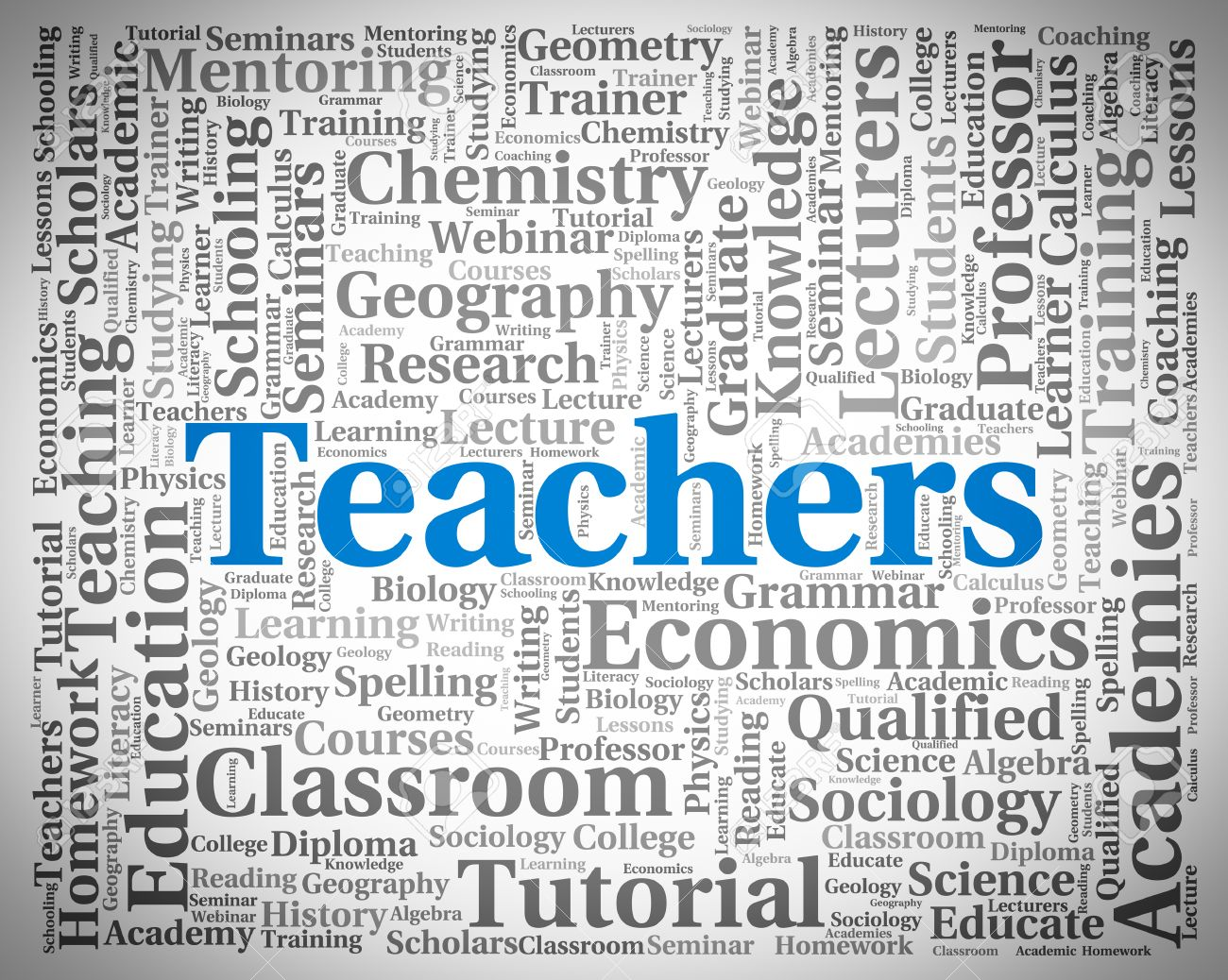 Teachers Word Showing Give Lessons And Instructing Stock Photo ...