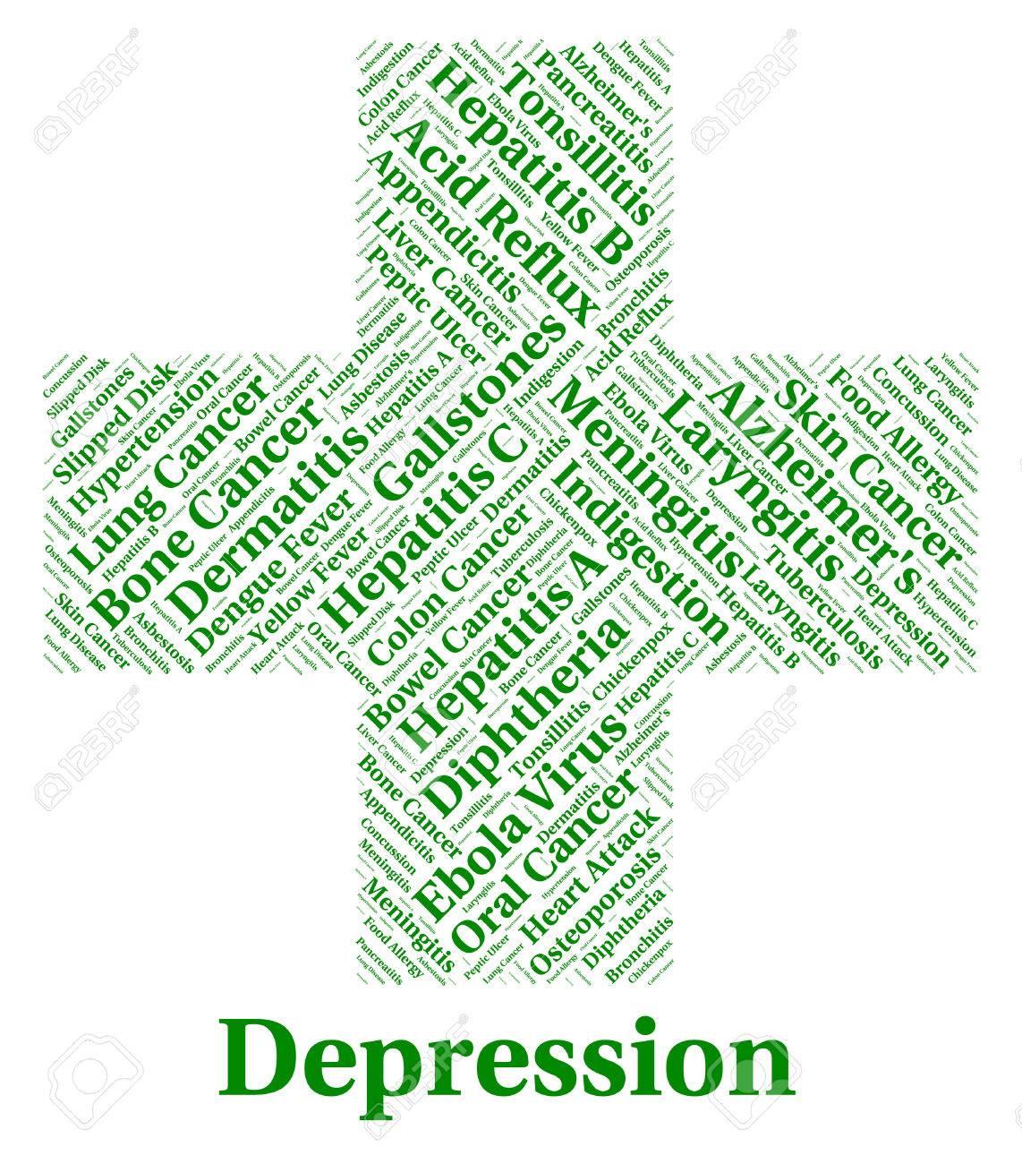 Depresión Palabra Significado Perdido La Esperanza Y Desorden Fotos