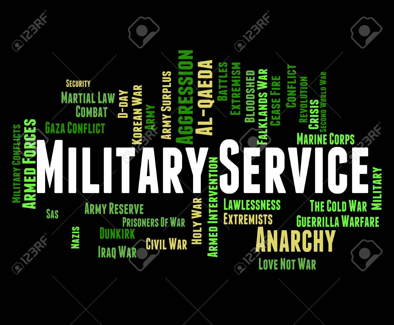 Military Service Showing Armed Forces And Text