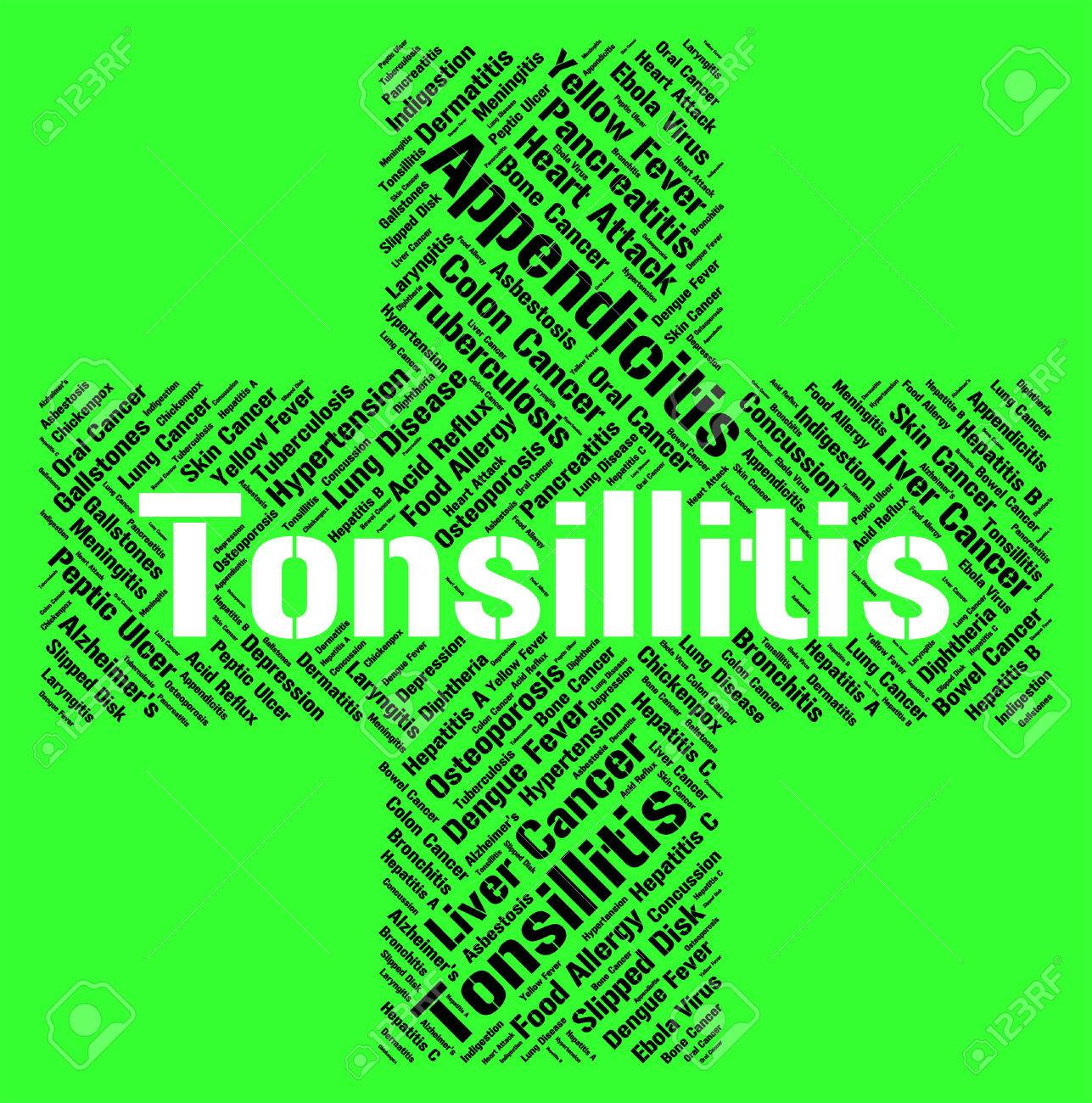 Tonsillitis Word Meaning Strep Throat And Sickness