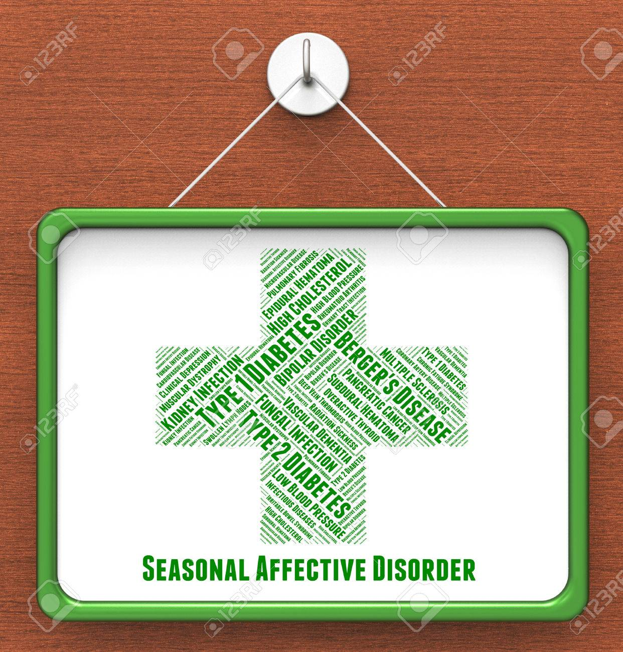 seasonal affective disorder meaning ill health and sadness stock